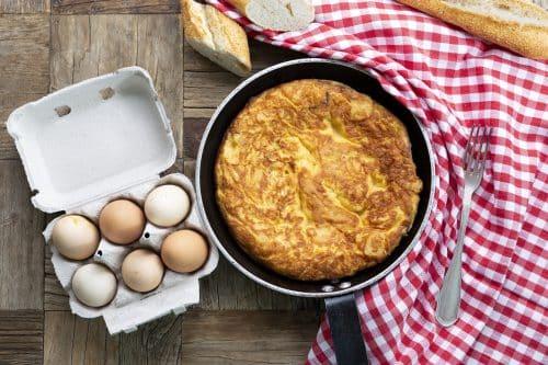 Tortilla De Patata Con Huevos Camperos
